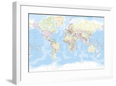 World Map-The Vintage Collection-Framed Giclee Print