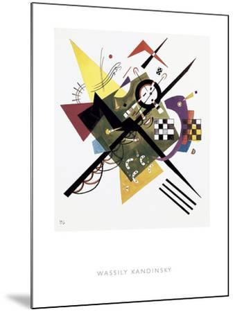 Study for On White II, 1922-Wassily Kandinsky-Mounted Giclee Print