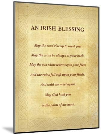 An Irish Blessing-The Inspirational Collection-Mounted Art Print
