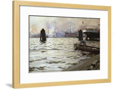 Hamburg Harbour-Anders Zorn-Framed Premium Giclee Print