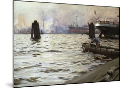 Hamburg Harbour-Anders Zorn-Mounted Premium Giclee Print