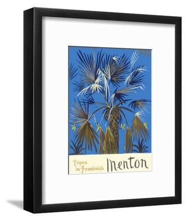Menton - Tropen in Frankreich (Tropics in France) - Palm Tree-Graham Sutherland-Framed Art Print