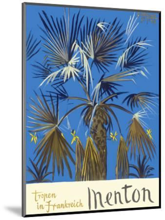 Menton - Tropen in Frankreich (Tropics in France) - Palm Tree-Graham Sutherland-Mounted Art Print