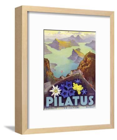 Mount Pilatus - Schweiz Switzerland Suisse - Lake Oberalp-Otto Landolt-Framed Art Print