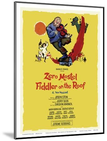 Fiddler on the Roof - Starring Zero Mostel - Musical by Harold Prince-Tom Morrow-Mounted Art Print