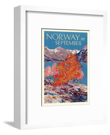 Norway in September - Fjord - Norwegian State Railways-Freda Lingstrom-Framed Art Print