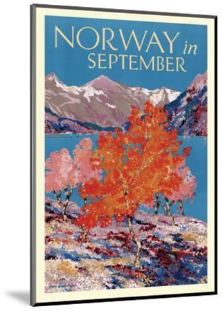 Norway in September - Fjord - Norwegian State Railways-Freda Lingstrom-Mounted Art Print