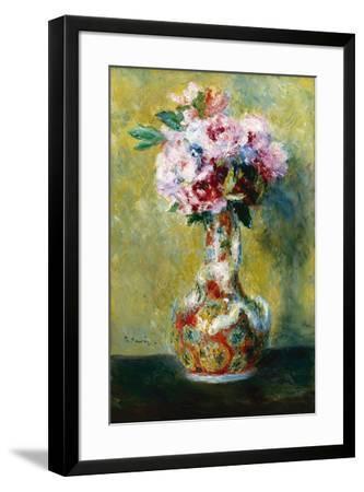 Bouquet in a Vase-Pierre-Auguste Renoir-Framed Giclee Print
