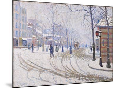 Snow, Boulevard de Clichy, Paris 1886-Paul Signac-Mounted Giclee Print