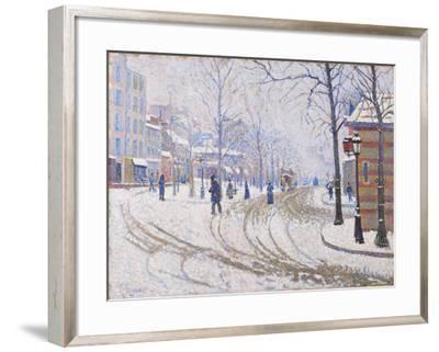 Snow, Boulevard de Clichy, Paris 1886-Paul Signac-Framed Giclee Print