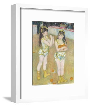 Acrobats at the Cirque Fernando (Francisca and Angelina Wartenberg), 1879-Pierre-Auguste Renoir-Framed Premium Giclee Print