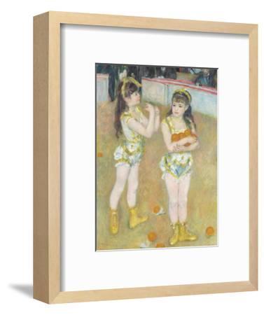 Acrobats at the Cirque Fernando (Francisca and Angelina Wartenberg), 1879-Pierre-Auguste Renoir-Framed Premium Giclee Print