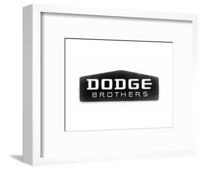 1930 Dodge Brothers Name Plate--Framed Art Print