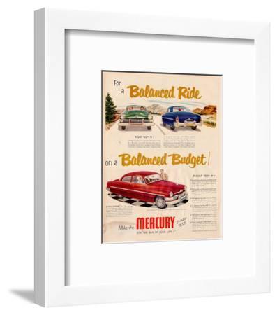 1951 Mercury - Balanced Ride--Framed Art Print