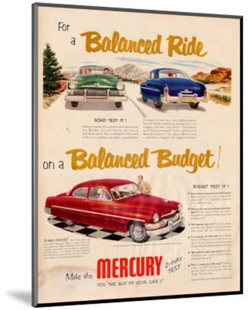 1951 Mercury - Balanced Ride--Mounted Art Print
