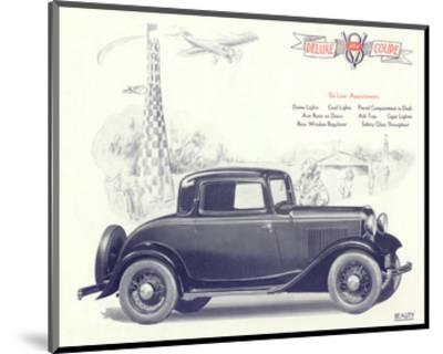 1932 Ford Deluxe Coupe--Mounted Art Print