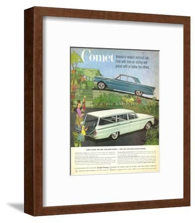 1960 Mercury-Comet Compact Car--Framed Art Print