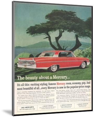 1961 the Beauty About Mercury--Mounted Art Print
