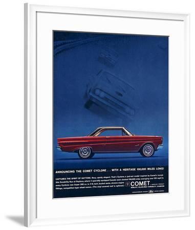 1964 Mercury - Comet Cyclone--Framed Premium Giclee Print