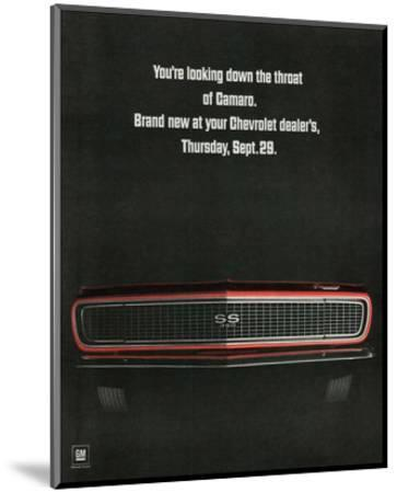 1967 Chevrolet Camaro: Throat--Mounted Art Print