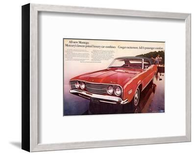 1968 Mercury - Cougar Montego--Framed Art Print