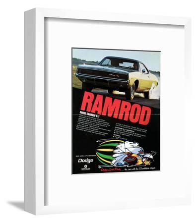 1968 Dodge Charger Ramrod--Framed Art Print