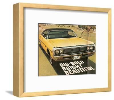 1969 Dodge Polara Gator Top--Framed Art Print