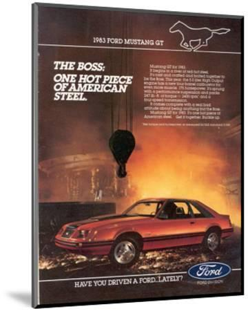 1983 Mustang American Steel--Mounted Art Print