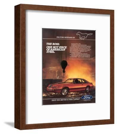 1983 Mustang American Steel--Framed Art Print