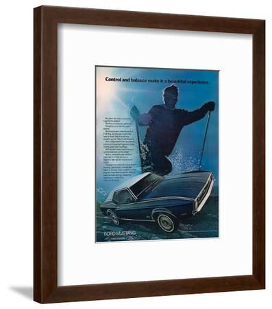 1972 Control & Balance Mustang--Framed Art Print