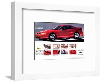 1994Mustang-What It Was & More--Framed Art Print