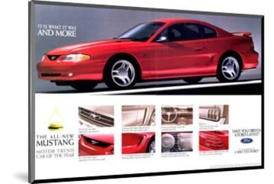 1994Mustang-What It Was & More--Mounted Art Print