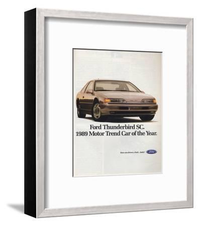 1989Thunderbird Car of the Year--Framed Art Print