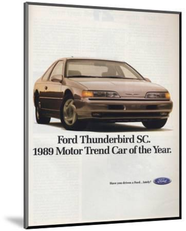 1989Thunderbird Car of the Year--Mounted Art Print