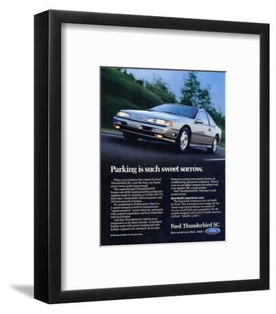 1990 Thunderbird Sweet Sorrow--Framed Art Print