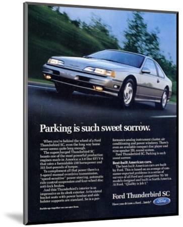 1990 Thunderbird Sweet Sorrow--Mounted Art Print