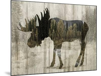 Camouflage Animals - Moose-Tania Bello-Mounted Giclee Print