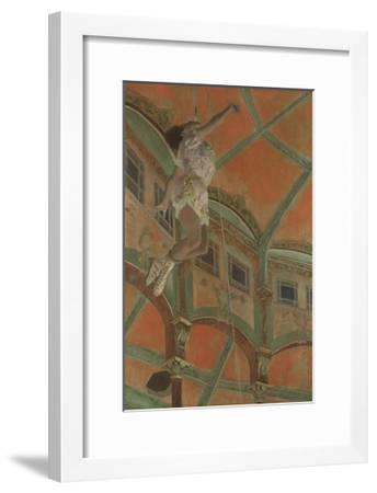 Miss La La at the Cirque Fernando, 1879-Edgar Degas-Framed Premium Giclee Print