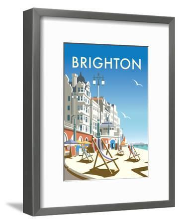 Brighton - Dave Thompson Contemporary Travel Print-Dave Thompson-Framed Art Print
