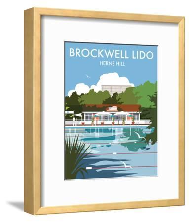 Brockwell Lido - Dave Thompson Contemporary Travel Print-Dave Thompson-Framed Art Print