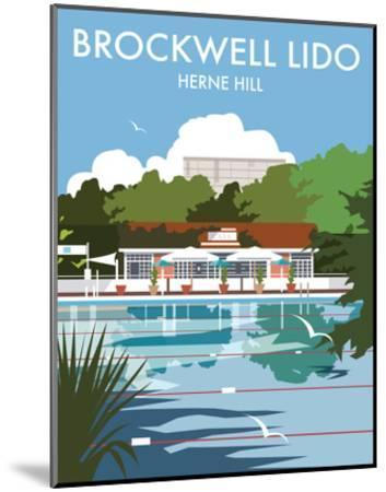 Brockwell Lido - Dave Thompson Contemporary Travel Print-Dave Thompson-Mounted Art Print