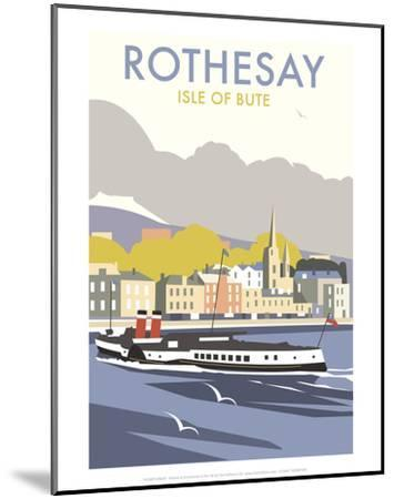 Rothesay, Isle of Skye - Dave Thompson Contemporary Travel Print-Dave Thompson-Mounted Art Print