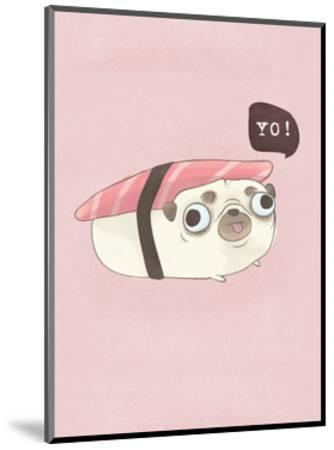 Yo! - Hannah Stephey Cartoon Dog Print-Hannah Stephey-Mounted Art Print