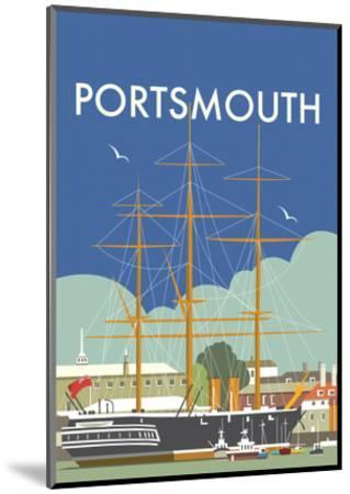 HMS Victory (Portsmouth) - Dave Thompson Contemporary Travel Print-Dave Thompson-Mounted Art Print