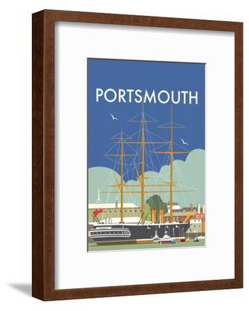 HMS Victory (Portsmouth) - Dave Thompson Contemporary Travel Print-Dave Thompson-Framed Art Print