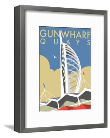 Gunwharf Quays (V2) - Dave Thompson Contemporary Travel Print-Dave Thompson-Framed Art Print