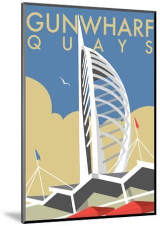 Gunwharf Quays (V2) - Dave Thompson Contemporary Travel Print-Dave Thompson-Mounted Art Print