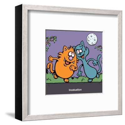 Incatuation - Antony Smith Learn To Speak Cat Cartoon Print-Antony Smith-Framed Art Print