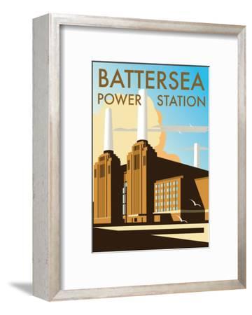 Battersea Power Station - Dave Thompson Contemporary Travel Print-Dave Thompson-Framed Art Print