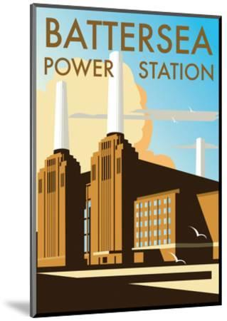 Battersea Power Station - Dave Thompson Contemporary Travel Print-Dave Thompson-Mounted Art Print